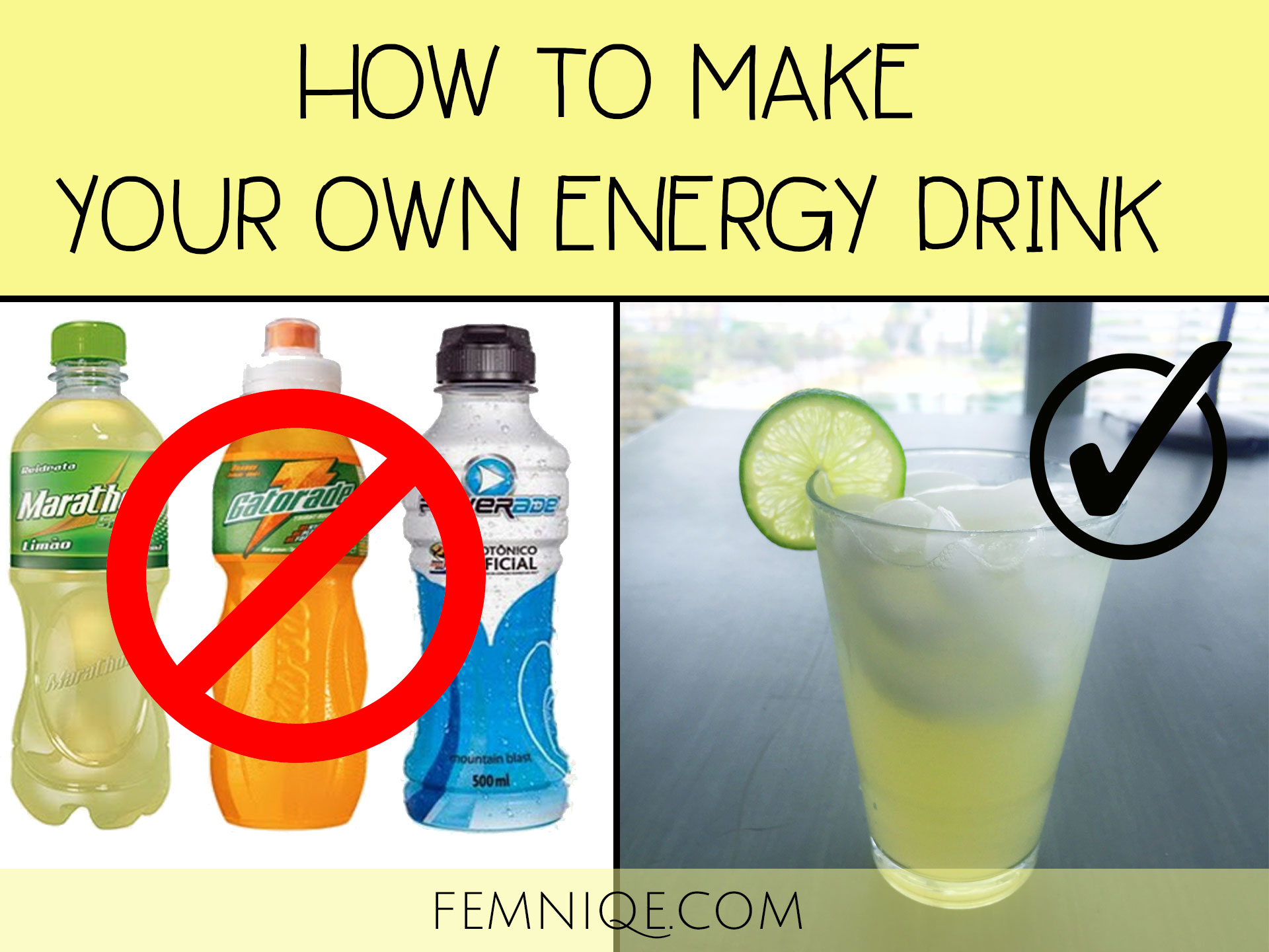 Make My Own Sports Drink