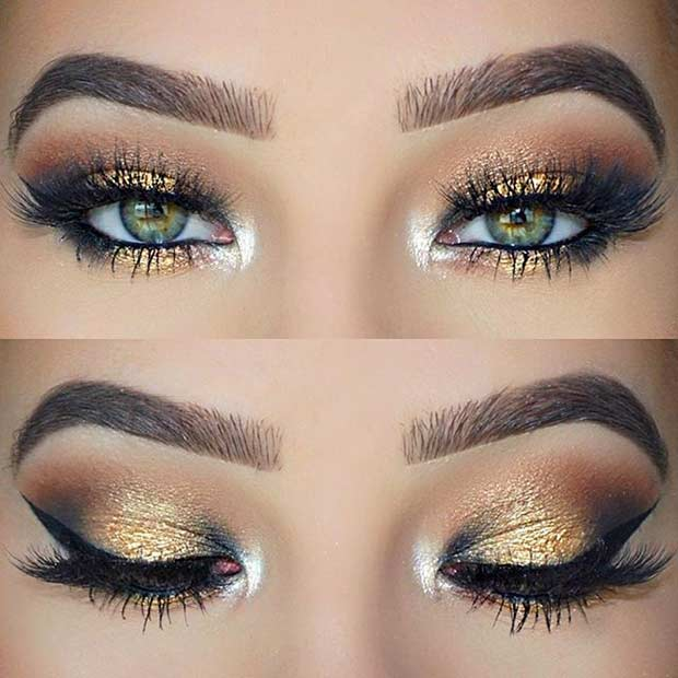 Gold hair mascara