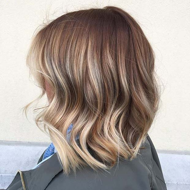 10 trendy lob haircut ideas for 2018 femniqe the caramel lob combined with blonde balayage ends winobraniefo Choice Image