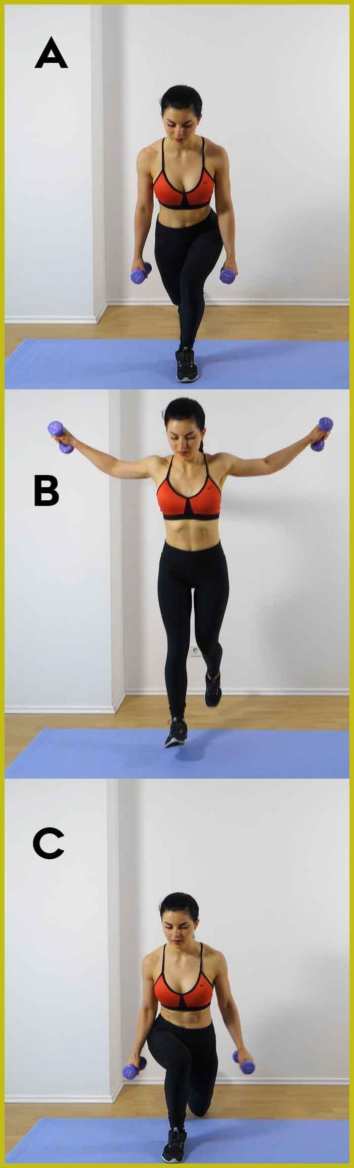 jump split lunges