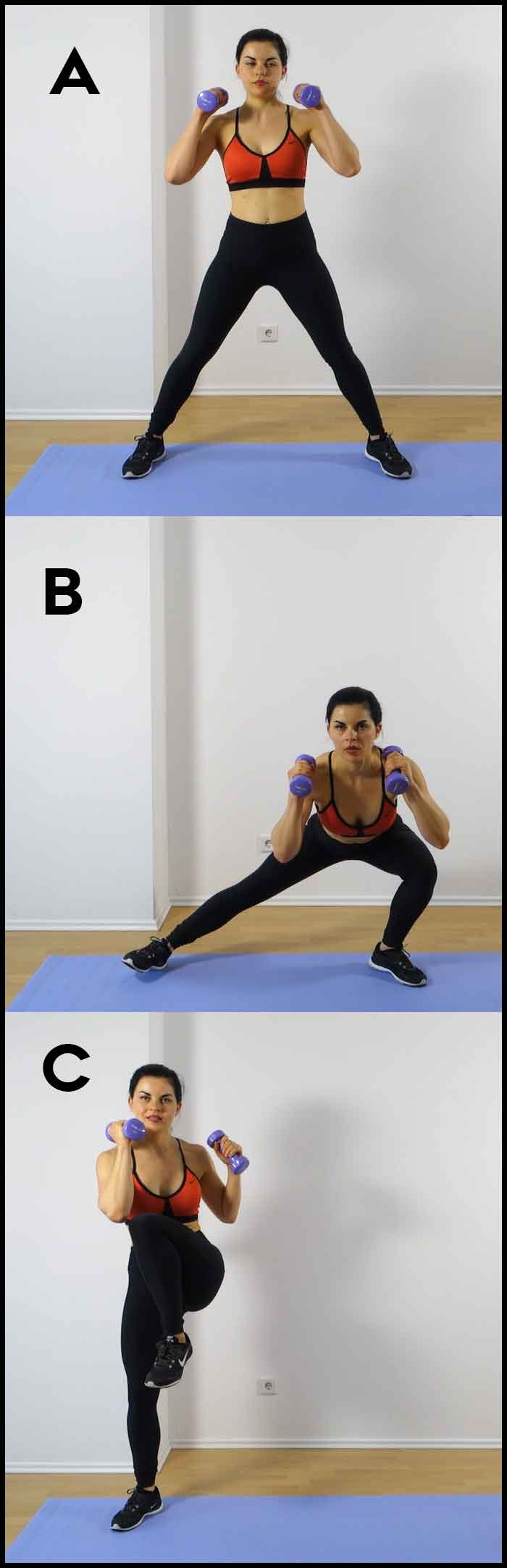 Lateral lunges for bigger butt
