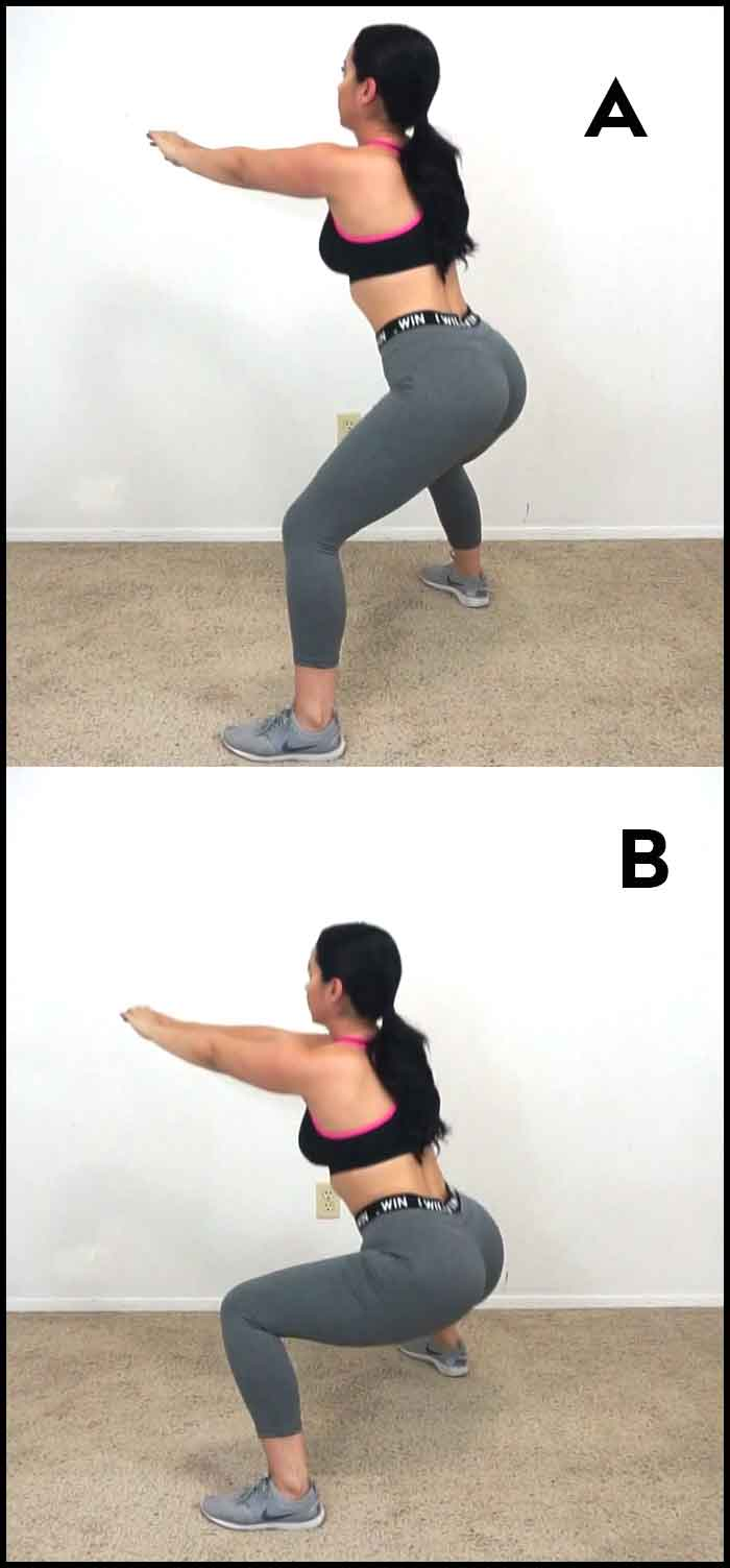 squat workout for glutes