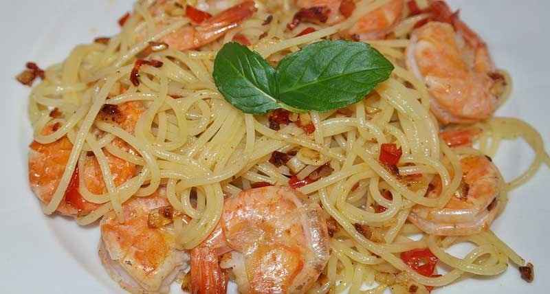 Shrimp Scampi with Whole Wheat Pasta