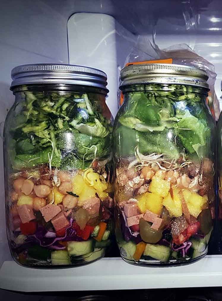 mason jar salads meal prep ideas