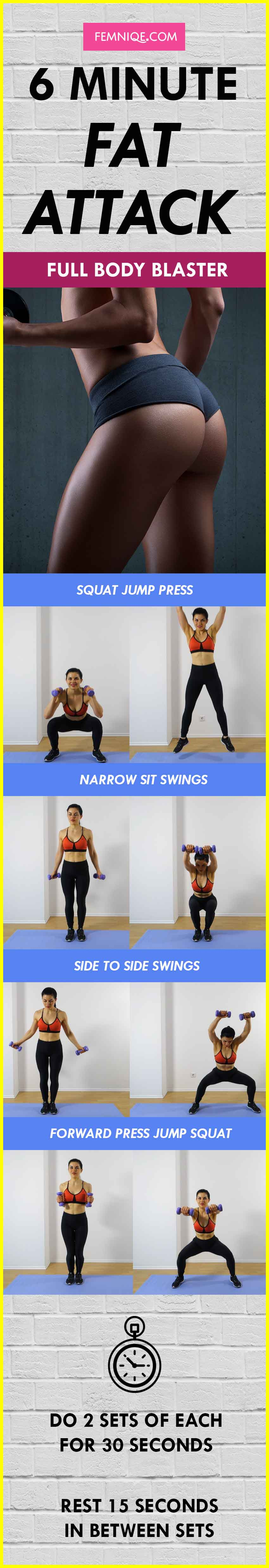 Total Body Workout: 6 Minutes To Incinerate Fat, Get Lean Strong