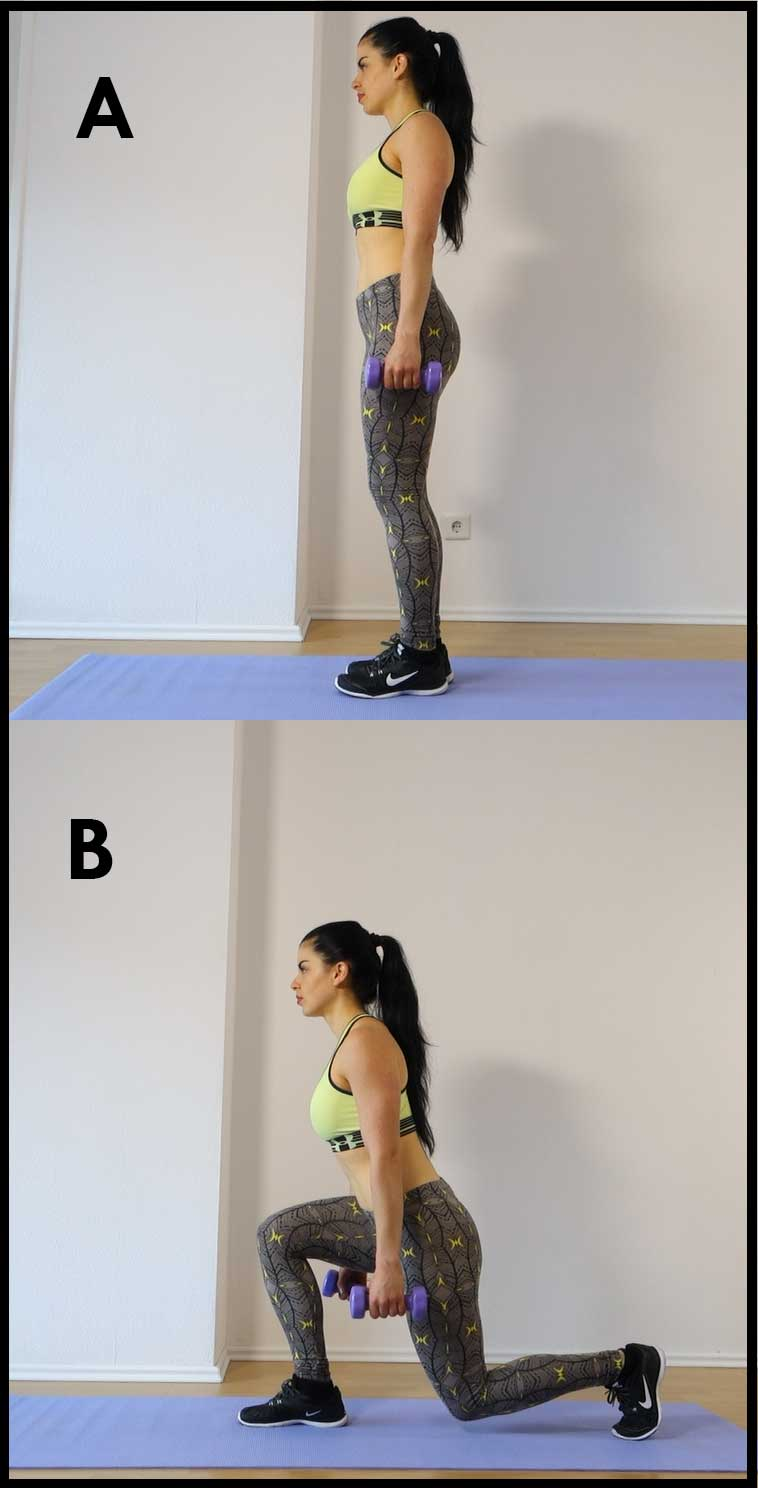 Dumbbell-reverse-Lunges