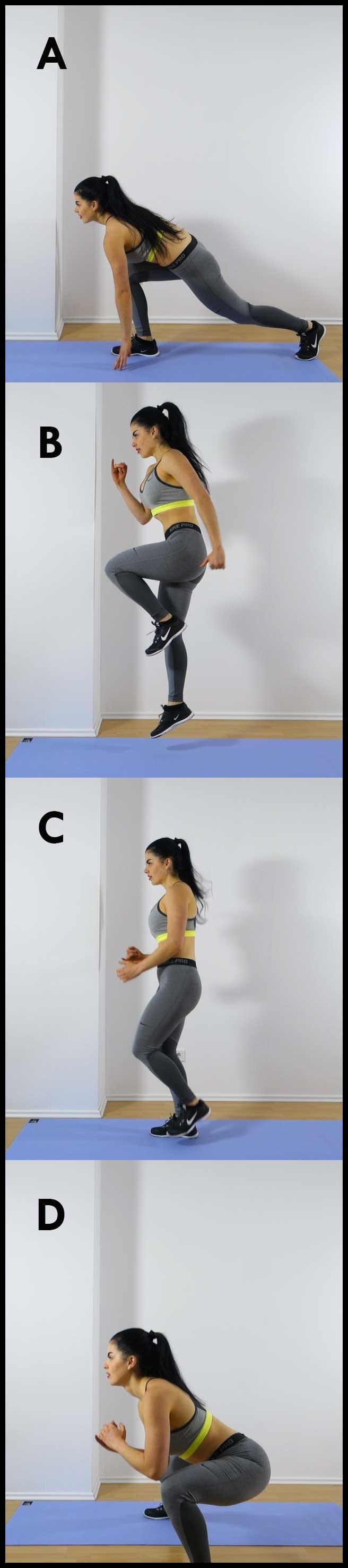Runner skip side lunge