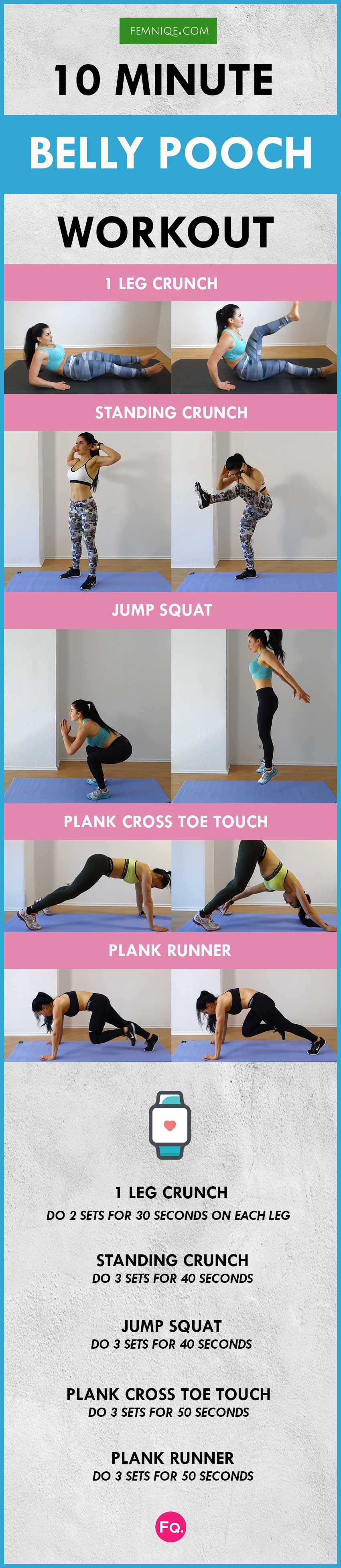 how to lose belly pooch fat workout