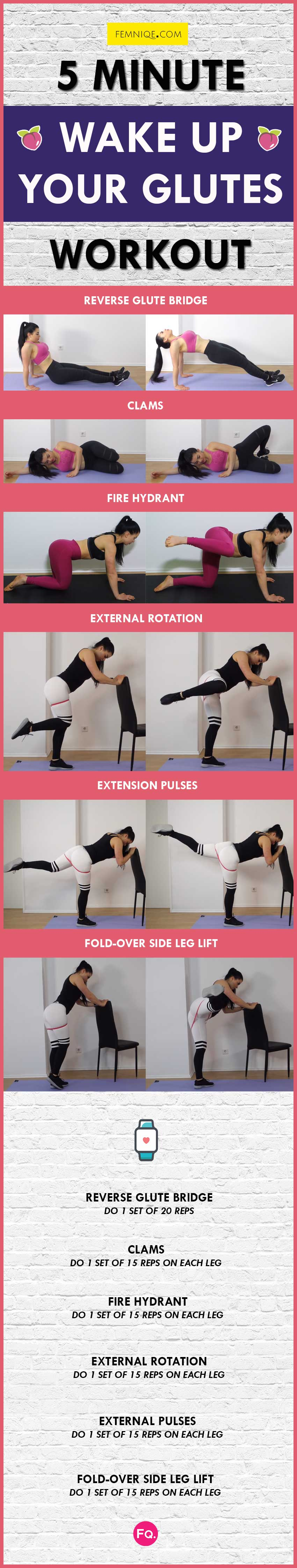 Glute Activation Exercises Routine