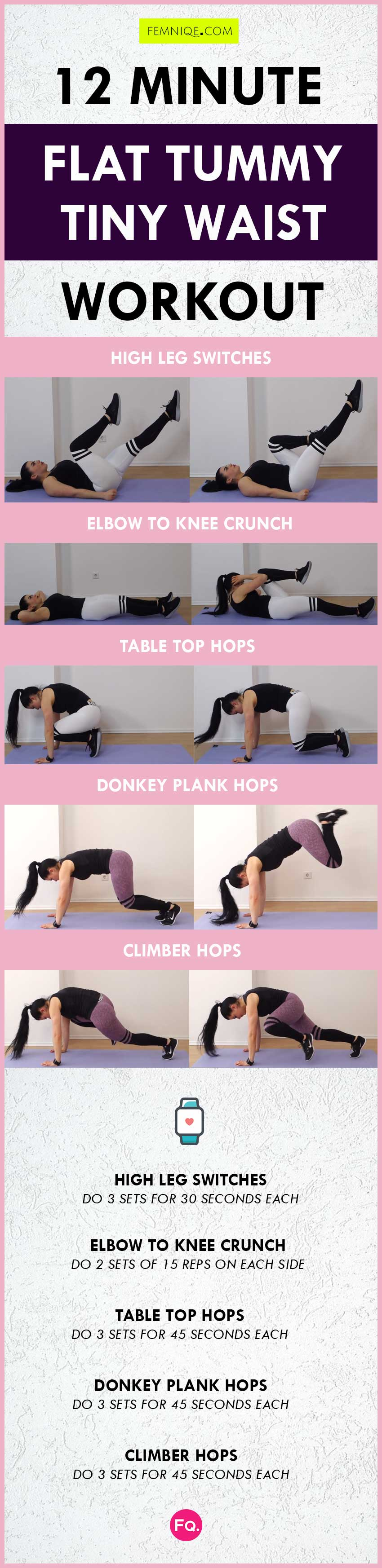 Flat Tummy Exercises challenge