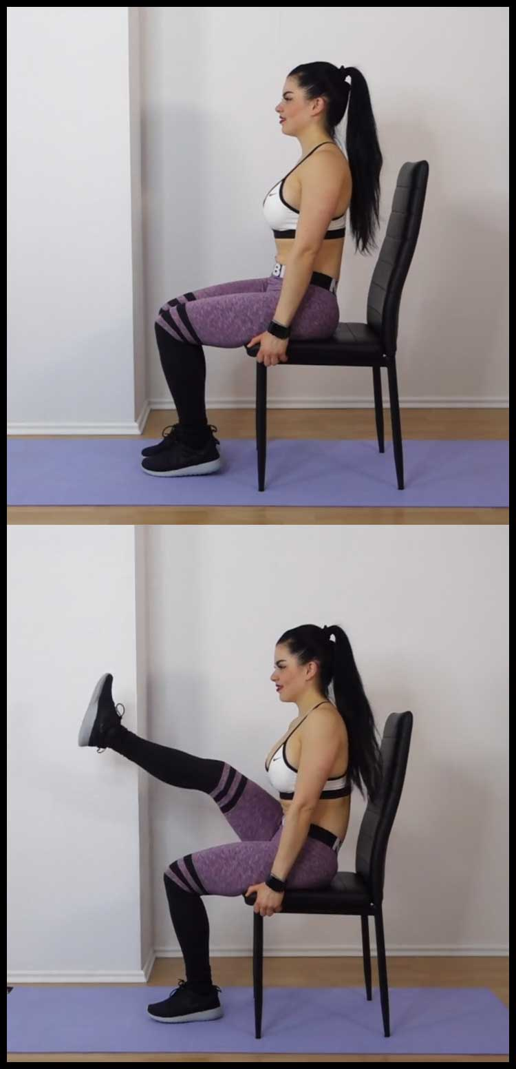 Chair exercises for abs minute tiny waist flat tummy