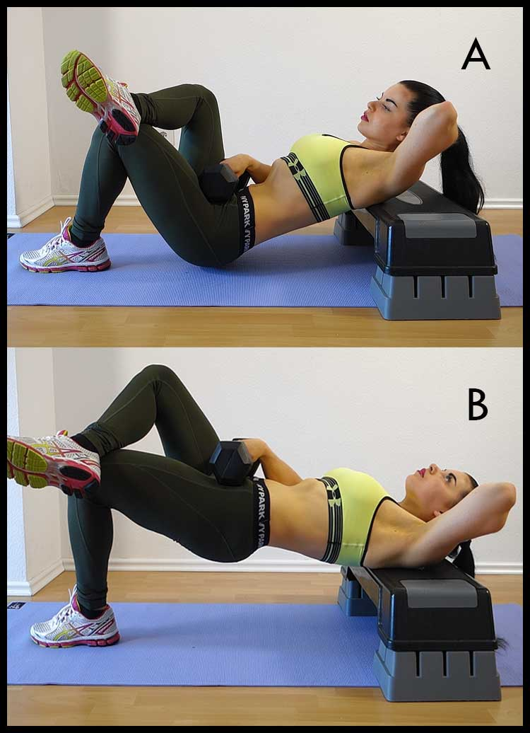 hip thrust dumbbell