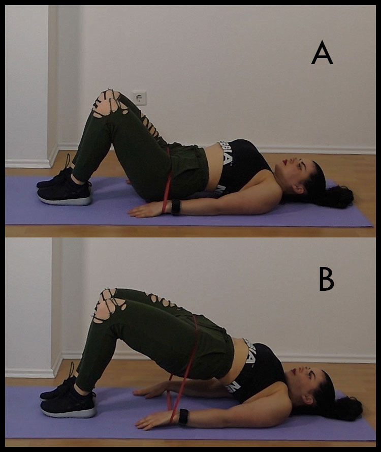 Glute-Bridges-with-Mini-Band